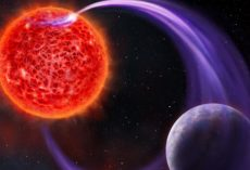 To a new Exoplanet the Star's Auroras light the way